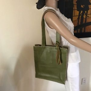 Handbags - Green leather shoulder bag